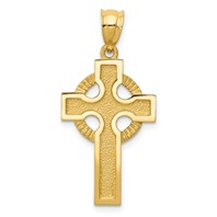 14k gold celtic cross pendant measures 58w x 1 316h weighs 188g