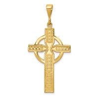 14k gold celtic cross pendant measures 78w x 1 34h weighs 206g