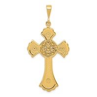 14k gold celtic cross pendant with celtic love knot measures 1516w x 1 78h weighs 281g