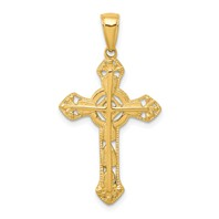 14k gold celtic ornate cross pendant measures 1116w x 1 516h weighs 131g
