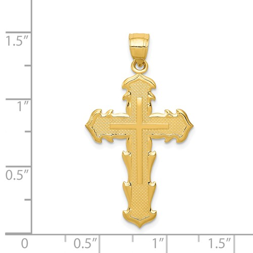 14k gold TRUST THE LORD cross pendant passion cross reversible measures 1316w x 1 716h