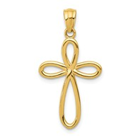 14k gold cross pendant measures 916w x 1h weighs 09g