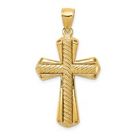 14k gold twisted rope cross pendant  weighs 557g