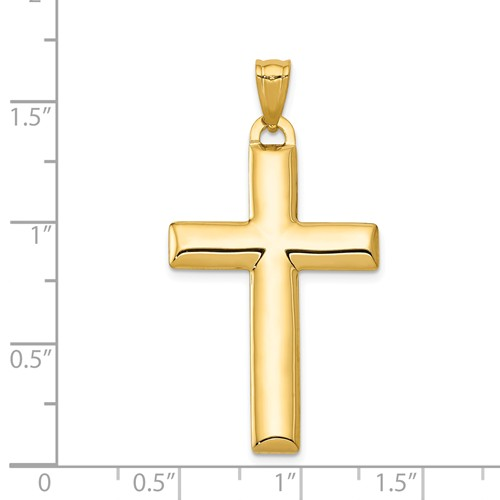 14k gold reversible cross pendant with rhodium back side measures 1316w x 1 58h weighs 1
