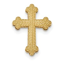 14k gold chain slide cross pendant polished beaded fits up to 3mm weighs 212g