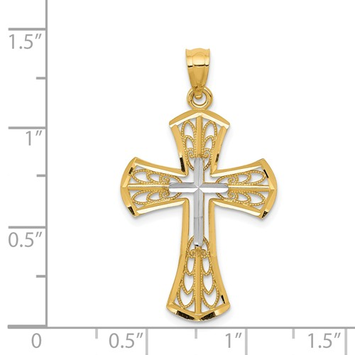 14k gold cross pendant  measures 34w x 1 14h weighs 125g