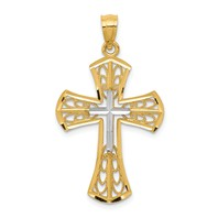 14k gold cross pendant  measures 3/4w x 1 1/4h weighs 1.25g