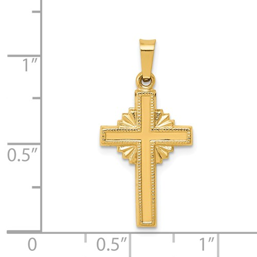 14k gold polished celtic cross cross pendant hollow flat back measures 12w x 1 18h weig