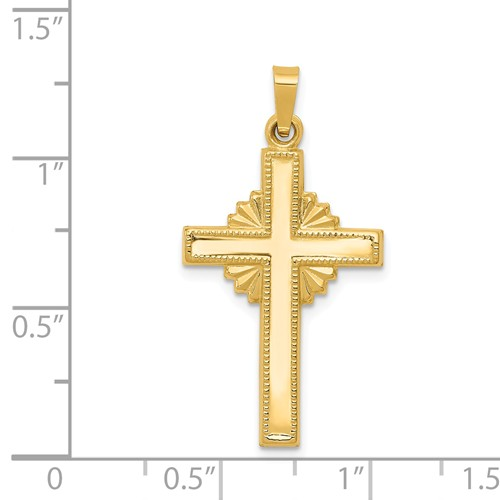 14k gold polished celtic cross cross pendant pendant measures 1116w x 1 14h weighs 099g