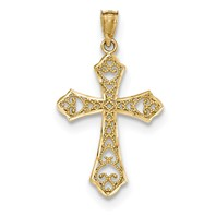 14k gold filigree passion cross pendant  weighs 071g