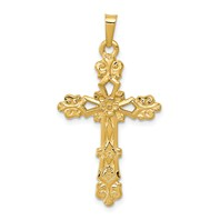 14k gold passion cross pendant flower weighs 179g