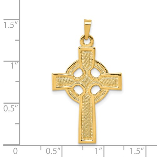 14k gold celtic cross pendant measures 1316w x 1 716h weighs 225g