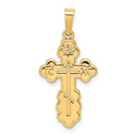 14k gold with Jerusalem Cross insideIC XC cross pendant Eastern Orthodox Greek Orthodox